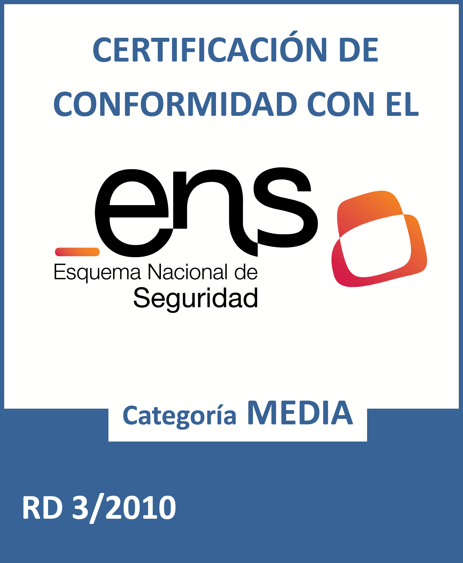 Distintivo ENS certificación media